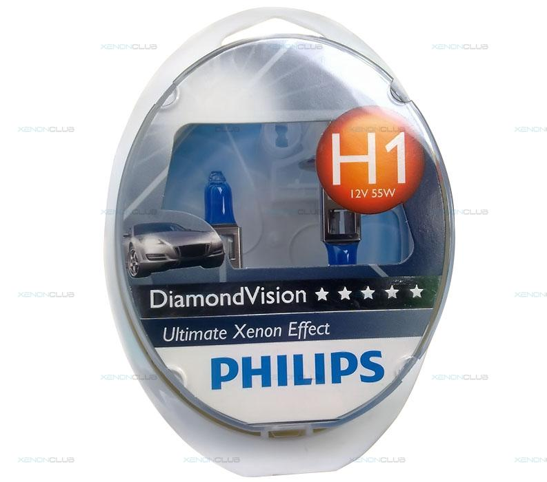 Лампа PHILIPS H1 55W Diamond vision 5000K (12258DV2) (5). Артикул: